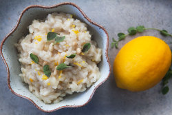 I do love a good risotto, and this Meyer Lemon variation looks a) absolutely delicious, and b) like a great spring-time meal idea. The recipe is available over at Simply Recipes.