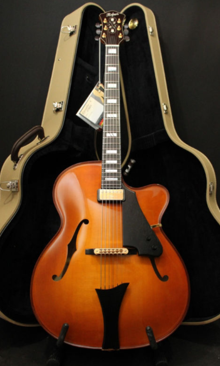 "Hofner Chancellor 2006Spruce, Maple, Ebony Magnificient 17"" archtop from Hofner."
