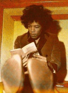 Go ahead. Read. via elisabethlane:   takeittothestreetpoetry:  If Jimi says read, then read….