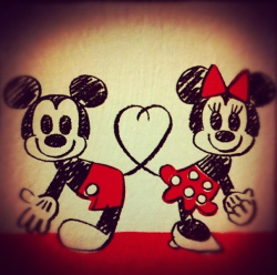 love drawing couple cute Mickey Mouse Love Drawings