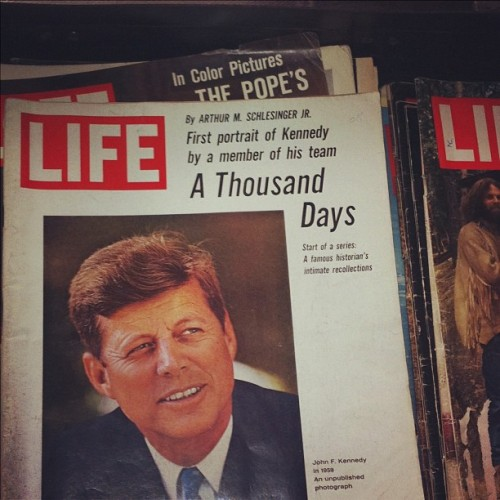 life:  Spotted at Brooklyn Flea. What's your favorite LIFE cover?  This cover gets our vote!