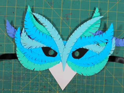 A photo to entice you….Learn how to make your own fancy paper mask.