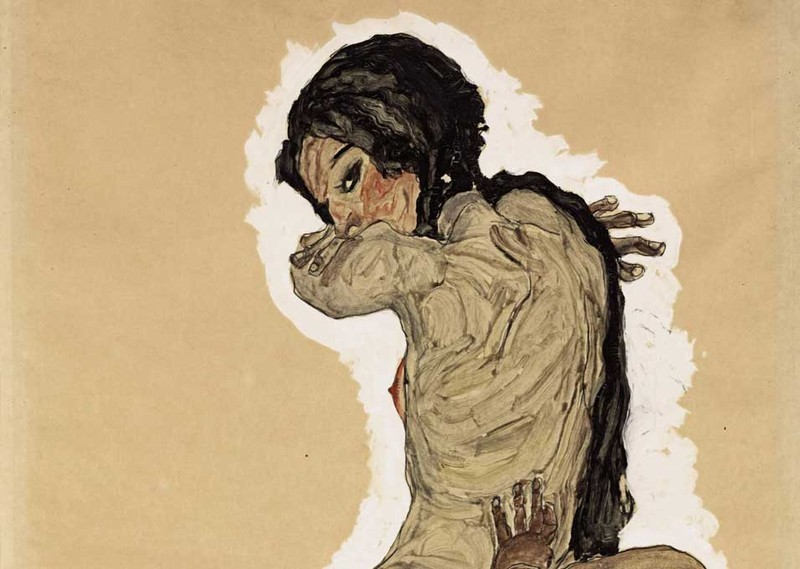 Mutter und Kind, detail, (1910) by Egon Schiele