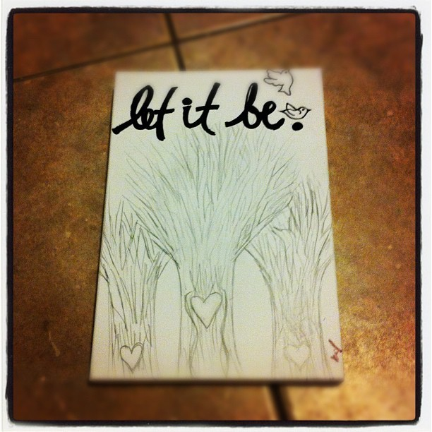 Doodling; Let It Be™ (Taken with instagram)