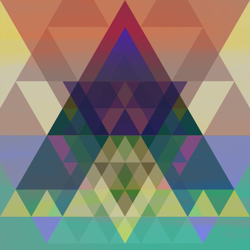 triangles everywhere now. such a beautifyl stuff""
