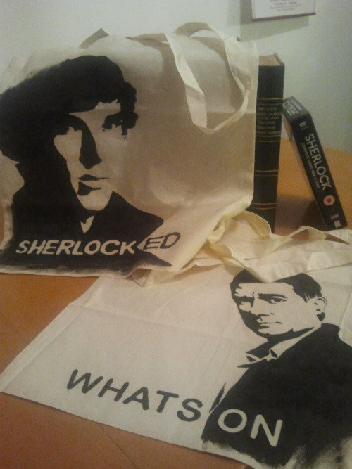 Now on http://yeoldefandomshoppe.tumblr.com/ Sherlock Holmes and John Watson shopping bag! : )
