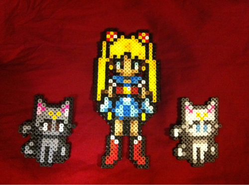 Usagi with Luna and Artemis