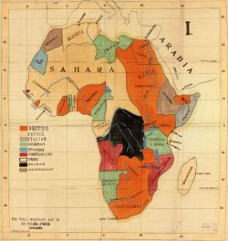nevver:  Colonial Powers in Africa Circa 1908, Cartophile  I've really interested in maps since I start drawing them for Today's Parent magazines Toronto sections.I love the colours in this one!