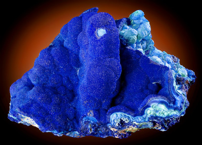mineralia:  Azurite over Malachite from Arizona by Exceptional Minerals