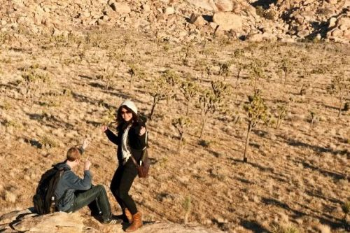 Jim and I dancing on a rock in Joshua Tree.   So many colors. @_@