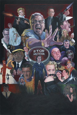 "The original JKL Movie: The Movie unofficial poster painting without the bells and whistles.  26""x38"" on illustration board.  Drew Struzan's work was a huge inspiration."