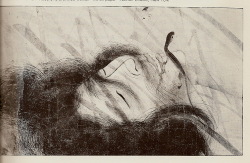 "Beautiful Japanese brushwork by Katsukawa Shunei..""Head of a Drowned Woman"""