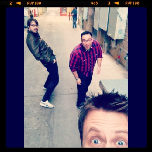 "My favorites! fuckyeahmattmira:  ""Behind the Paramount in Austin. Show in 30 min!"" From@nerdist on twitter"