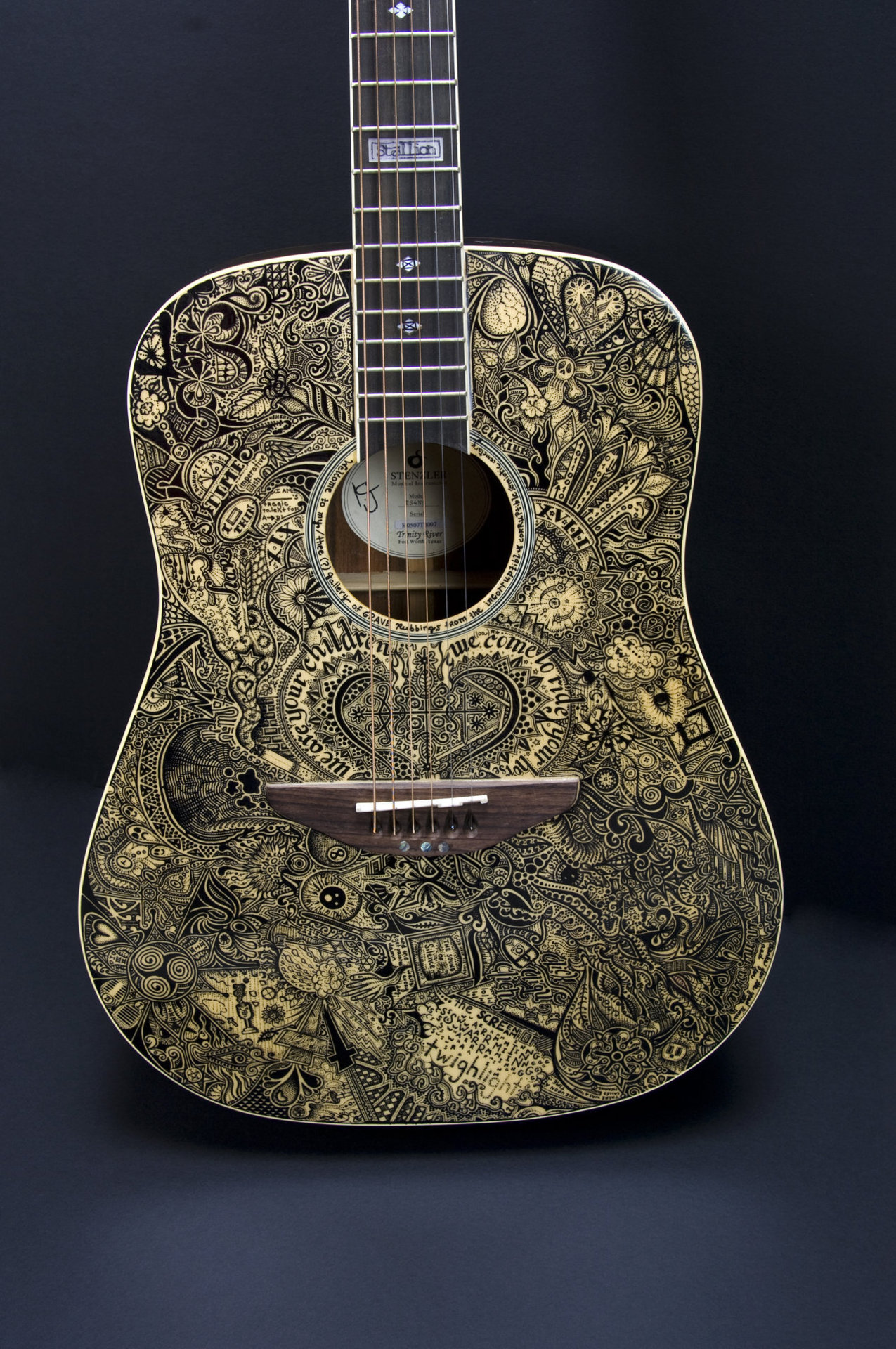 gaksdesigns:  Sharpie guitar illustration by Sprat