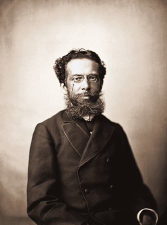 "fuckyeahhistorycrushes:  Joaquim Maria Machado de Assis (called sometimes as ""The Warlock from Cosme Velho"") is considered the greatest brazilian writer and the best writer of the 19th century.  Mulatto (a person of mixed black and white ancestry), poor, epileptic and stutterer, Machado fought for their studies and to ascendsocially. His style has opened up a literary genre called 'psychological realism' unprecedented or followers. Multilingual, he learned French, English, German, and Greek later in life. Today, for its innovation and boldness in early issues, is often seen as the Brazilian writer unprecedented production, so that, recently, his name and work have achieved many critics, scholars and admirers worldwide. Machado de Assis is considered one of the great geniuses in the history of literature, along with authors such as Dante, Shakespeare and Camões. His most famous books are Memórias Póstumas de Brás Cubas and Dom Casmurro. And of course, he is my favorite writer <3  Afinal, Capitu traiu ou não traiu Bentinho?"
