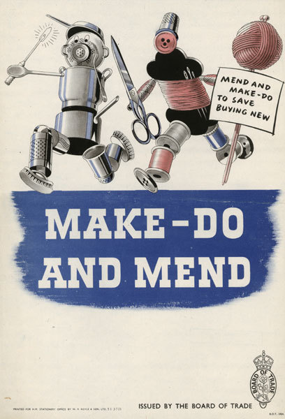 "Make Do and Mend, book, £9.99 The rationing period during World War II is often described as a difficult time and yet also remembered nostalgically as a time of unity and good sacrifice. In fact, many of its rules and guidelines could still be applied today. ""Make Do and Mend"" focuses on clothes rationing, which was introduced in June 1940. With the nation's industrial output concentrated on the war effort, basic clothes were in short supply and high fashion was an unknown commodity. Adults were issued as little as 36 coupons a year to spend on clothes. But a man's suit could cost 22 coupons, a coat 16 and a lady's dress 11, so the need to recycle and be inventive with other materials became more and more necessary. The government issued the leaflets included in ""Make Do and Mend"" to advise on how best to avoid wasting valuable resources by recycling curtains into dresses and old sheets into underwear; in short how to 'make do and mend' rather than buying new clothes. Produced from original material held in archives, the leaflets are also a nostalgic showcase of 1940s' style, which makes them the perfect gift."