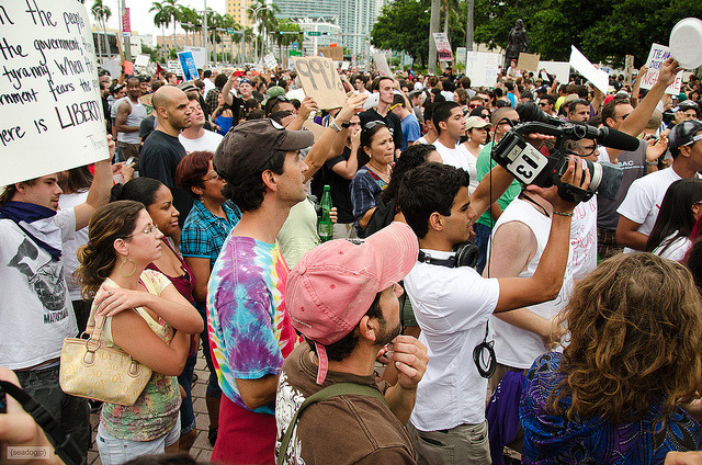 Occupy Miami by seadogjp on Flickr.