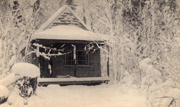 Aroostook County camp, photo by EB White, 1895