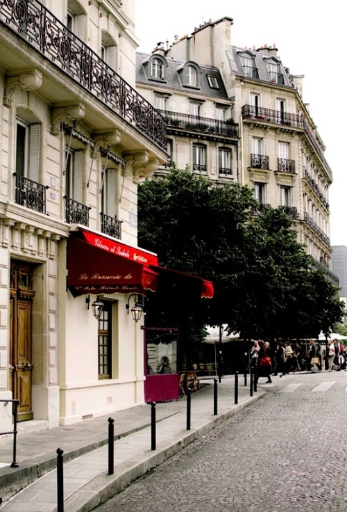 | ♕ |  Steep street in Rive Gauche, Paris  | by © .natasha.   Always Paris