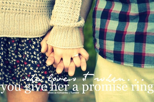 shes-a-romantic:  She loves it when you give her a promise ring