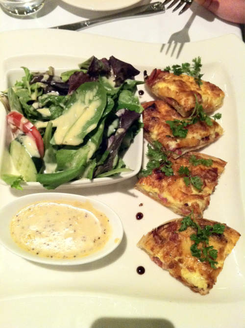 Jon's quiche and salad