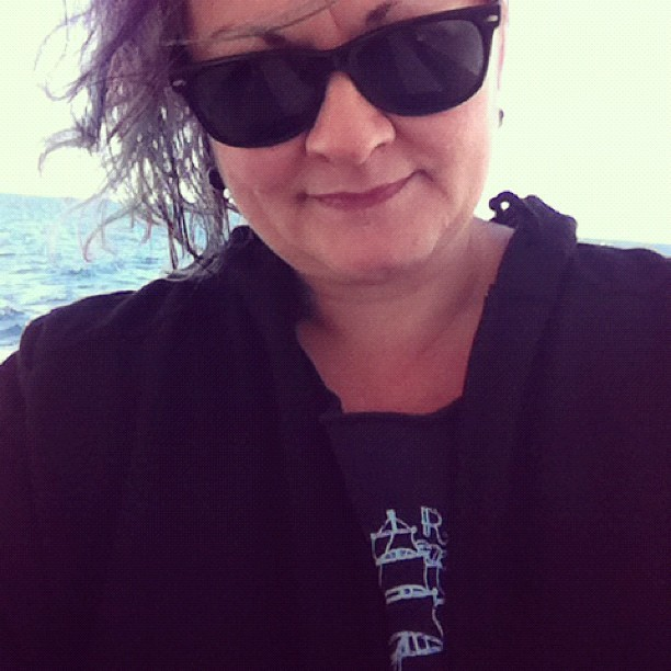 Windswept GPOY with Salty Dolls Tshirt for the ferry trip.  (Taken with instagram)