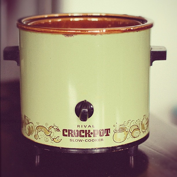 063 - retro cook day #crockpot #70s #oldskool #reto #cooking #kitchen #thanksmom #photoaday  #lindseyamillerphotography  (Taken with instagram)