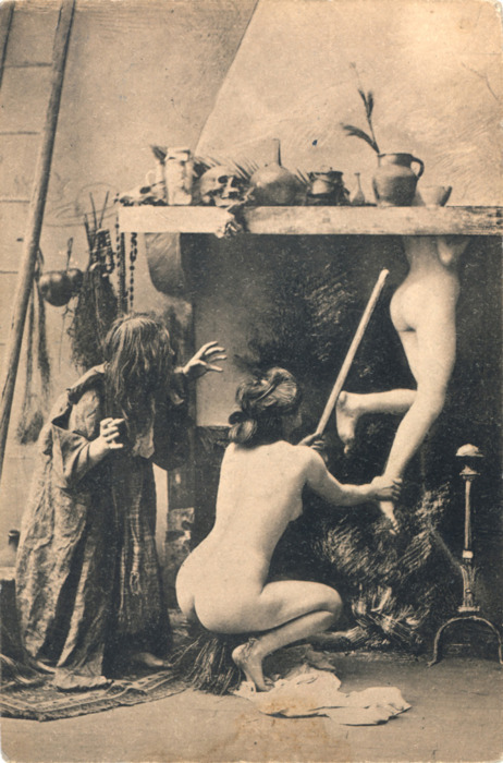 diestroysiniestro:  Witches' Sabbath, postal card.