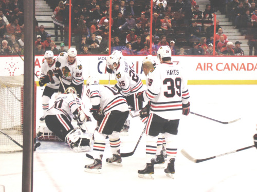 matchsticklake: Hawks in warm up - March 2, 2012