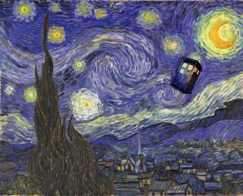 brain-food:  Starry Night with TARDIS by TerryLightfoot  Yeeeees