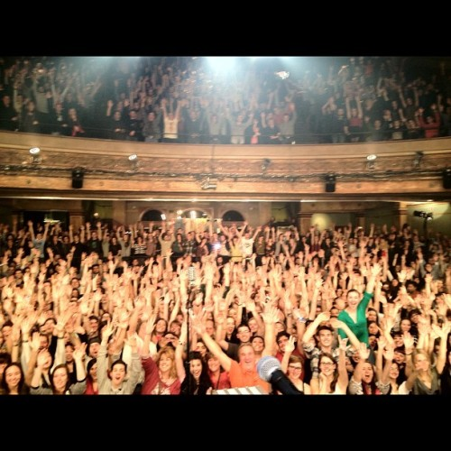 youngthegiant:  Montreal, QC (Taken with Instagram at Théâtre Corona)  I was definitely here. You can't see me, but I know where I was!  GREAT SHOW!