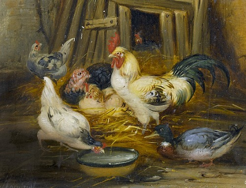 Claude Guilleminet Chicken Coop, detail 19th century