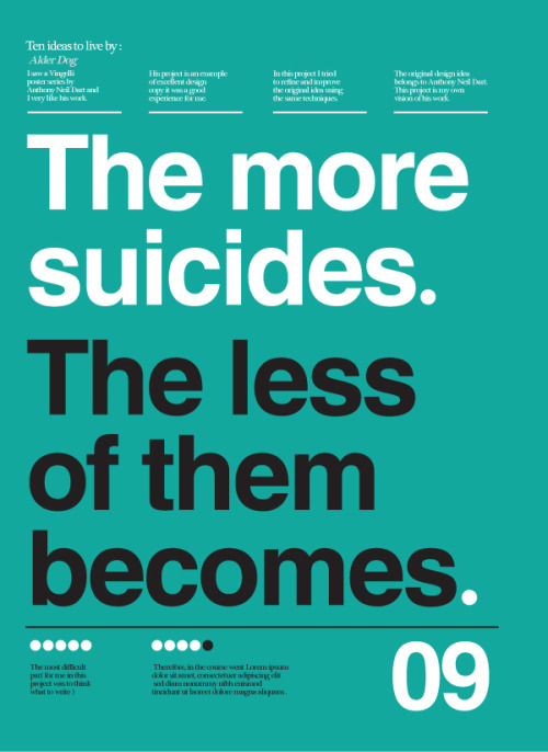 Today Is National Suicide Prevention Day The more suicides, the less of the becomes.