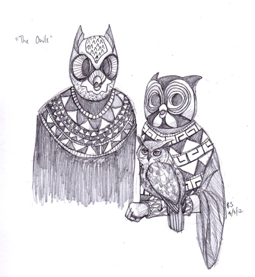 "anairia:  Prompt: ""The Owls"""