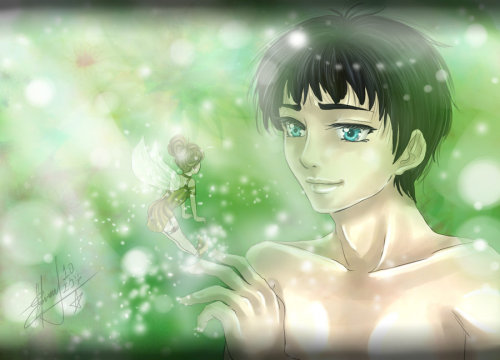 Merlin: Fairy land by ~EvaAngel Merlin. He likes fairies. Enough said. <3
