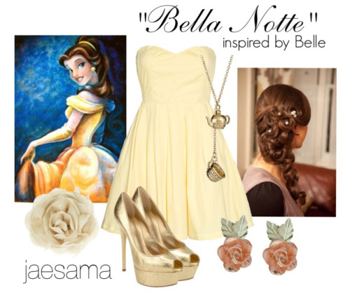 """Bella Notte"" inspired by Belle from Disney's Beauty & the BeastOutfit Request By: niallsprincesstobexx mia"