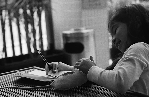 "zdp-189:  ""Help with homework"" Test roll for Canonet QL17 G-III. Ilford HP5 @ 400ASA in D-76 at stock strength. Canon 8800F at 2400dpi, approx. 50% crop."