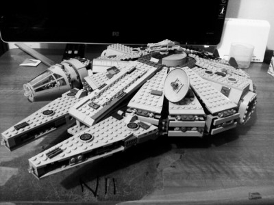 Lego millennium falcon. (Photo by eiricht)