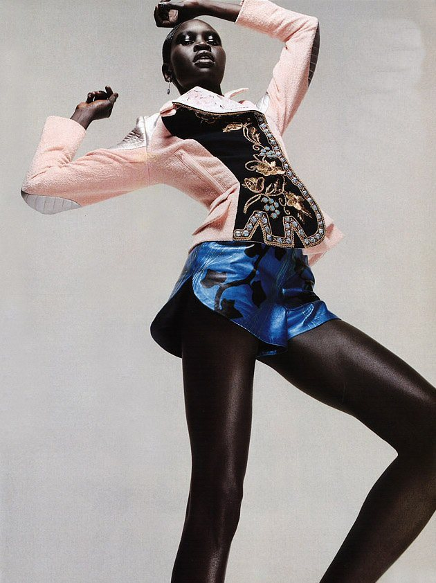 "pauvres:  ""Knock-Out Couture"" Alek Wek photographed by Sølve Sundsbø for Harper's Bazaar US"