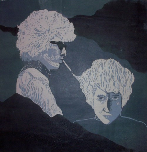 Hey, thought Bob Dylan fans might appreciate my print I made, blended two of my favorite images of him.  There's a click-through link if you are interested in a print! And any feedback you have.. I would love to hear from anyone!