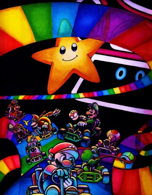 meaneyedcat:  Rainbow Road