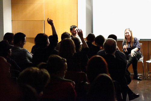 "Photos of the presentation of the American edition of ""Here is Berlin"" at NYU, March 2nd, 2012. ©Martin Fuchs for http://www.hereisberlin.com"