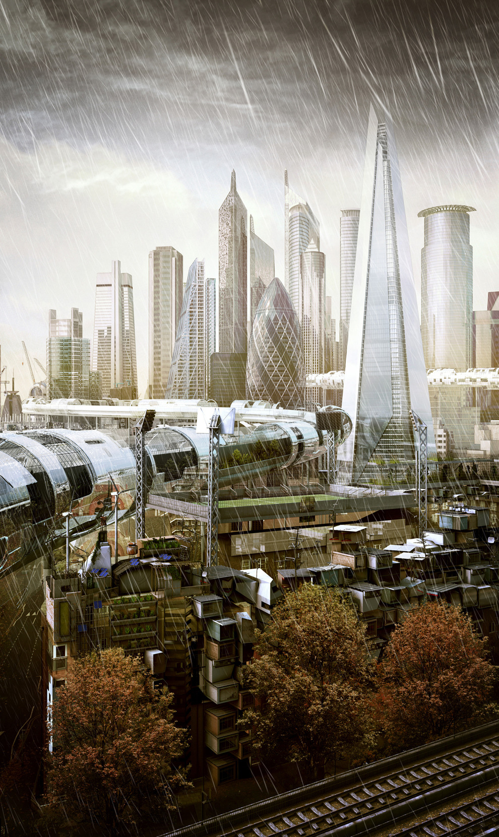 Is this how the future of London would look like? Looks like a strong class society. Makes you wanna work in a bank ;) via chazhuttonsfsm:  Future London…