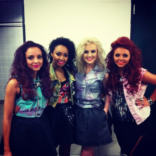 littlemixforlife:  The girls backstage at the tour! Looking very beautiful as always! They have great outfits I love their tour jackets!