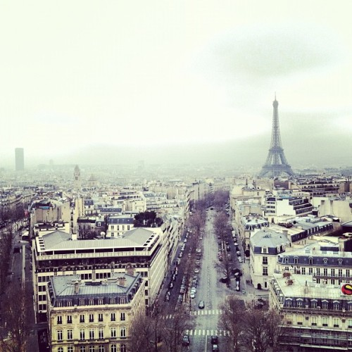 View from on top of the Arc de Triomphe (Taken with Instagram at Arc de Triomphe)