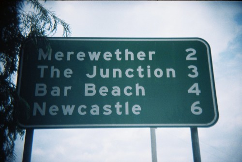 Newcastle Sign Holga 135bc/Kodak 400