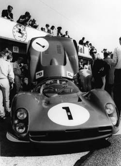 hellformotors:  John Surtees/Mike Parkes Ferrari 330 P3 at the 1000Km of Nurburgring 1966