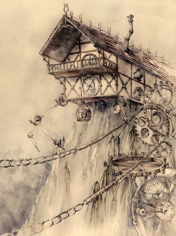 fatelovestomesswithme:  Steampunk House by ~haunted-tower