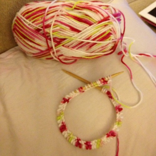 I can cast on with circular needles! #knitting #knit  (Taken with instagram)