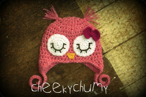 Sleepy owl hat available in all sizes http://www.ebay.co.uk/itm/120858792030?ssPageName=STRK:MESELX:IT&_trksid=p3984.m1555.l2649